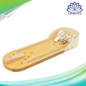 Mini de escritorio de madera juego de bolos a los niños Los niños juguetes para el desarrollo de la casa del bebé decoración regalo Novedad Juguetes