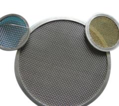ステンレス鋼20 50のプラスチック押出機のためのミクロンによって編まれる網フィルターパックフィルター網目スクリーンディスク