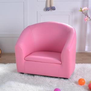 Rosa bebé único banco de couro de PVC Kids sofá (SF-12)