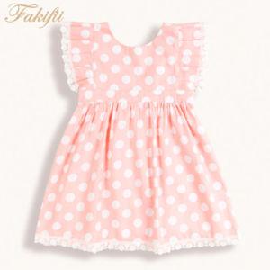 Primavera/Verão 2019 Novo Design para vestuário de criança rapariga Vestuário Vestuário Infantil Polka Rosa DOT vestidos de festa para meninas