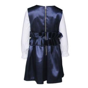 海軍国際的な学生服のBowknetのひだベルトの服学生の子供の服