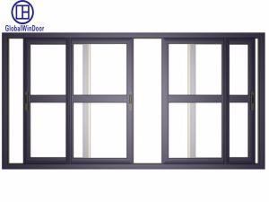El doble de cristal templado de mosquiteros ventanas corredizas de aluminio