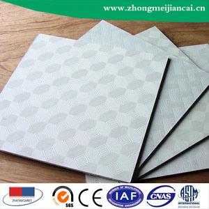 Conseil de plafond en plâtre laminé PVC avec feuille d'aluminium305