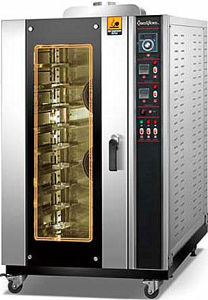 Los Hornos de panadería panadería de la máquina de aire caliente de gas horno de convección con sistema de vapor de alta calidad con precio competitivo (QH-10Q)