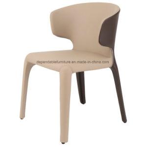 Mobiliário de Design Hotel Couro Cadeira de Jantar Hola com o braço para restaurante