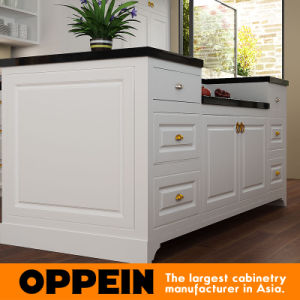 Oppein weiße Lack-Galerie-Küche-Euromöbel (OP15-L19)