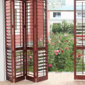 Portello di piegatura di vetro di legno placcato anteriore della lega di alluminio
