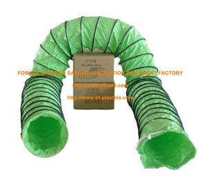 Tubo flessibile resistente al fuoco flessibile verde della canalizzazione di ventilazione dell'aria