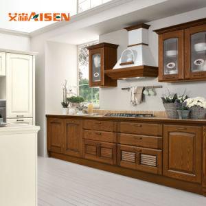 Bom desempenho moderno design simples armário de cozinha de madeira de qualidade superior