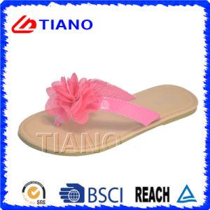 La moda y de la muchacha linda flip-flop con suela TPR (TNK50030)