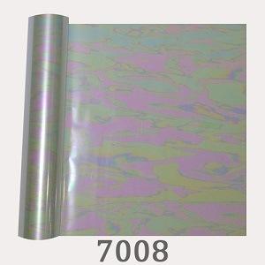 Holograma transparente de la moda de la lámina de transferencia de calor del arco iris sobre el cuero pu ropa