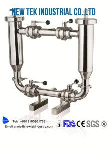 Acero inoxidable sanitario doble ángulo de la canalización de los filtros