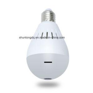 A lâmpada de 2 MP E27 Luz da Lâmpada Fisheye Câmara IP Full HD 1080p Wireless WiFi Lente panorâmica de 360 graus da câmara MIC suporte de cartão SD