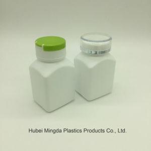 High-Density PE van het Polyethyleen Fles van de Kruik van de Plastic Container van het Huisdier de Plastic 80ml Vierkante met het Deksel van de Tik