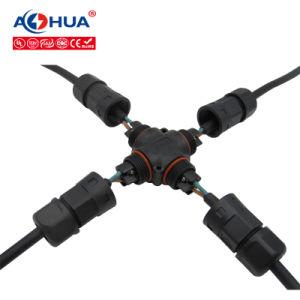 Endereço IP de alta qualidade67 Splitter 2 LED do pino 1 no 3 do conector do fio do cabo à prova de água
