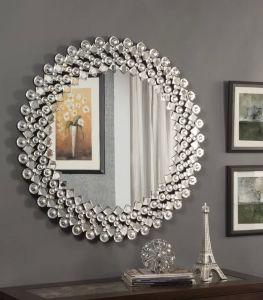 L'Europe Nouveau design en verre en cristal Mur miroir de salle de bains