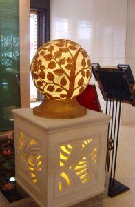 A decoração interior em mármore candeeiro de tecto suspenso com efeito transparente