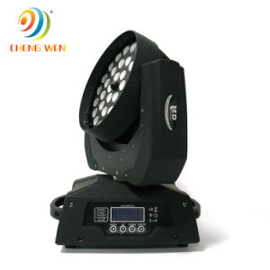 4en1 36X12W LED de alto brillo moviendo la cabeza de lavado de ojos de la abeja de la luz de la etapa de Zoom