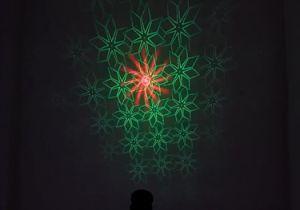 アルミ合金屋内RGBの段階のディスコレーザーのクリスマスの照明
