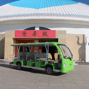 Intervalo longo 14 lugares Abra balcão de aluguer de excursões de autocarro eléctrico com marcação CE