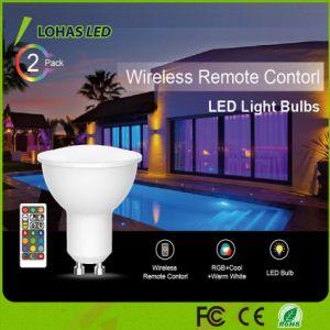 Fernsteuerungsscheinwerfer der drahtloser 5W GU10 LED Punkt-Glühlampe-RGBW IR