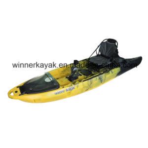 La parte superior el diseño único con pala de Kayak de pesca