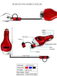 Автоматический кабель USB портативный автомобильное зарядное устройство для Huawei P20