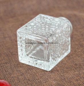 Würfel-Glasaroma-Flasche für Diffuser (Zerstäuber) mit silberner Schutzkappe