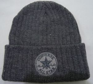 Bordados de alta qualidade personalizada de malha de Inverno Beanie Red Hat Tricot Hat chapéu de acrílico