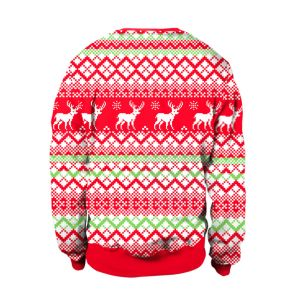 새로운 크리스마스 둥근 고리 성숙한 긴 소매 알파카에 의하여 인쇄되는 스웨터