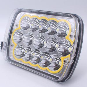 45W正方形LEDハイ・ロービーム4X6ジープラングラー5X7  LEDのヘッドライト