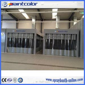 Vorbereitungs-Stationen mit Curtained Wand-den beweglichen beweglichen Vorbereitungs-Stationen gebunden mit Lack-Raum-heißen Verkäufen von Paintcolor Spraybooth
