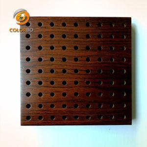 Décoration intérieure ignifugés/écologique en bois perforé Panneau acoustique