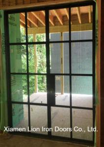صنع وفقا لطلب الزّبون مدخل خارجيّة حديد أمن [إنترنس دوور] [فرنش دوور] تصاميم