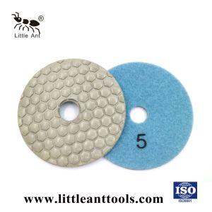 un disco di lucidatura asciutto urgente diamante di 4 '' 100mm per marmo, granito