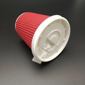 Sacar la tapa de plástico de la Copa de papel desechables para el café caliente plana con orificio transversal PS tapas
