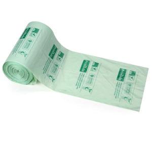 コーンスターチは100%の生物分解性のCompostableプラスチックごみ袋を印刷した