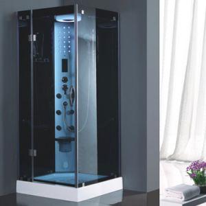 Bandeja de acrílico quadrado de uma única pessoa banheiro com chuveiro de vapor compacto
