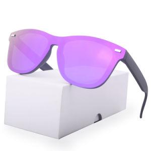 2019のファッション・デザイナーの陰の女性および人のカスタムロゴのブランドによって分極されるサングラスの縁なしのサングラス