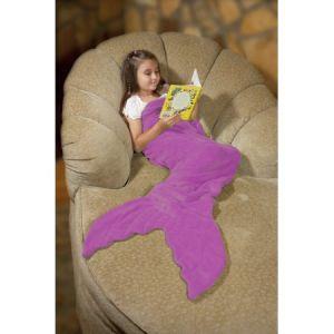 Coperta del panno morbido personalizzata disegno della sirena dei bambini