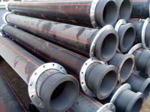 Tubo de PE de plástico com flange para fornecimento de gás ou água de HDPE 100