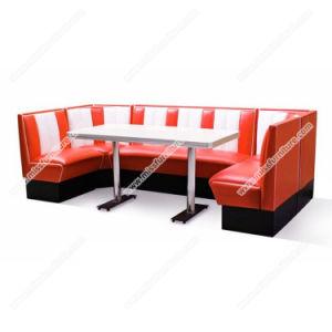 Colorida American Retro 1950 Mesa de comedor y la cabina, más barato Retro 1950 Comedor mesa de madera contrachapada y colorido stand de la esquina de la banda establecida