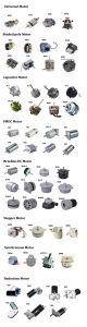 Motor eléctrico DC sin escobillas para el escape/ventilador deshumidificadores