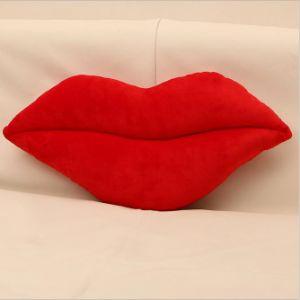 Sexo em forma de lábios almofadas de pelúcia