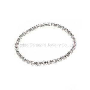925 Silver 18K 10K e 14K bracelete de fundição com Milagre Jóias de Corte