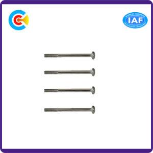 Aço carbono M12/Galvanizado parafusos de cabeça chata cruzada personalizado para mobiliário