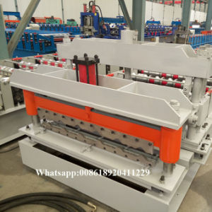 Le mur et panneau de toiture tuile Galzed en acier de couleur en appuyant sur la machine