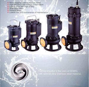 Corte Non-Clogging sumergible de aguas residuales bomba moledora