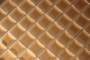 Tuile en verre de miroir beige décoratif de bonne qualité de prix bas (ND02)