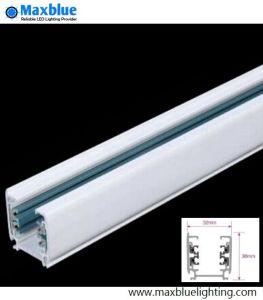De Staaf van het Spoor van het Aluminium van het wit/van de Kleur Black/Silver voor het LEIDENE Licht van het Spoor